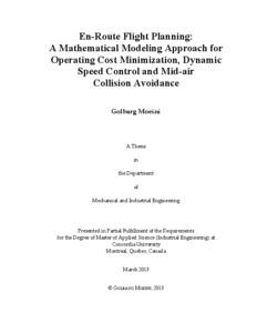 En-Route Flight Planning: A Mathematical Modeling Approach