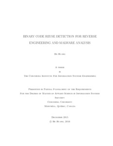 Binary Code Reuse Detection for Reverse Engineering and Malware