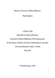 Master thesis concordia