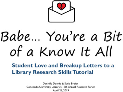"""Babe… You're a bit of a know it all """" Student love and breakup"""
